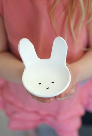Clay Bunny bowl for Easter Celebration