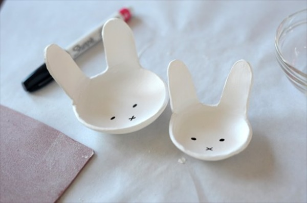Simple Diy Clay Bunny Bowl For Easter Easy Diy And Crafts