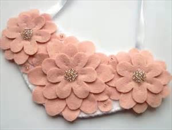 DIY flower necklace ideas