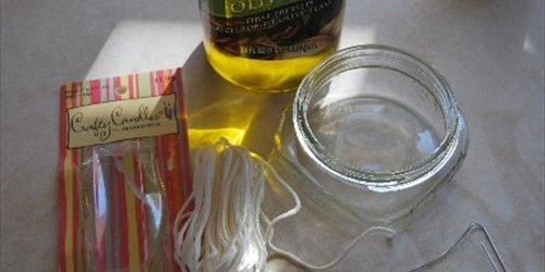 Easy homemade oil candles