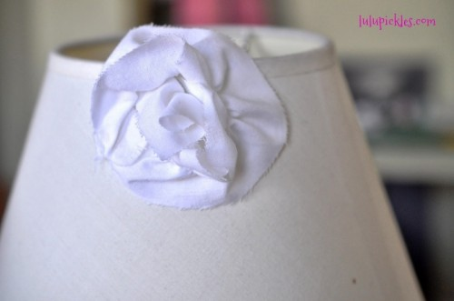wonderful girlish rosette lampshade