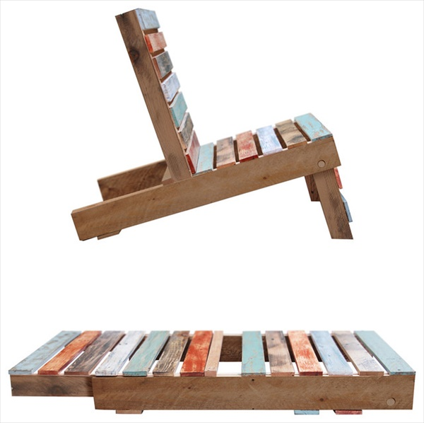 how to make wooden pallet chair