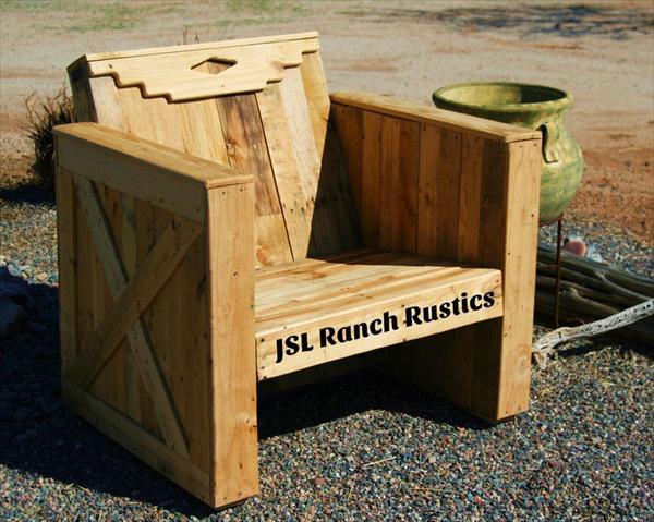 Easy pallet chair projects