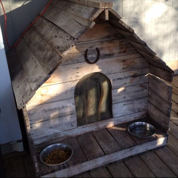 Dog pallet house DIY ideas