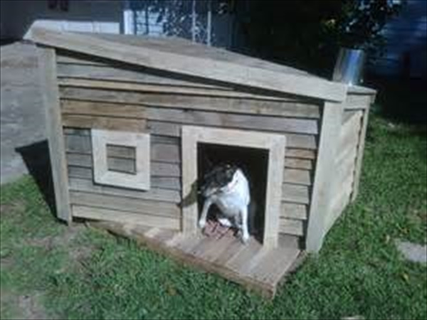 dog house made of wooden pallet