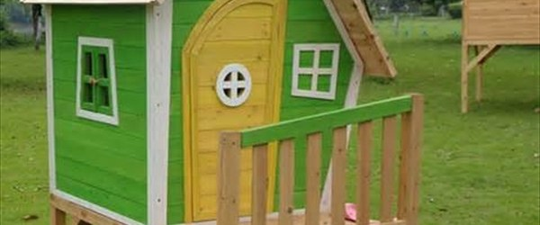 DIY pallet wood house designs