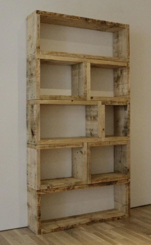 DIY Pallet Storage Shelves
