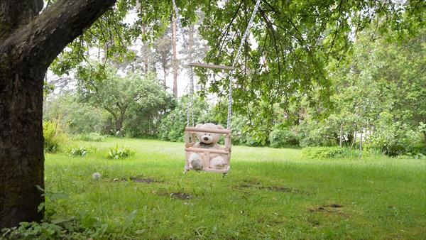 DIY Outdoor baby tree swing