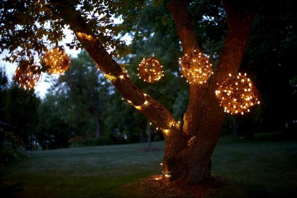 DIY backyard lighting plans