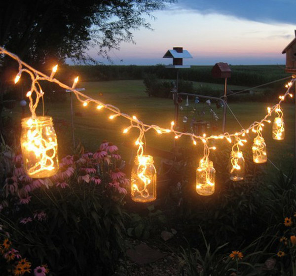 DIY outdoor patio lighting