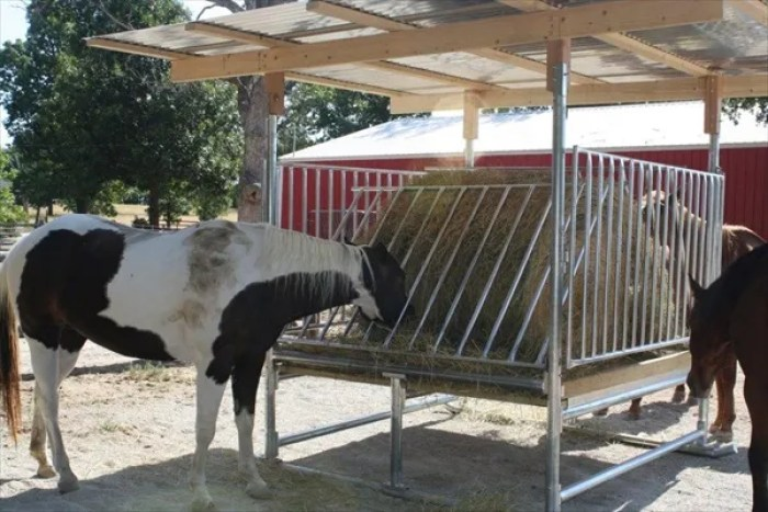DIY easy to make horse shelters