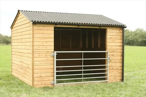 cheap homemade horse shelter