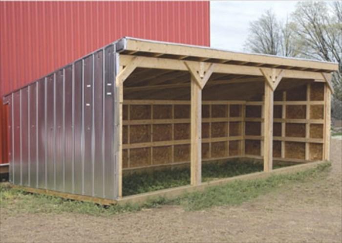 DIY livestock shelters