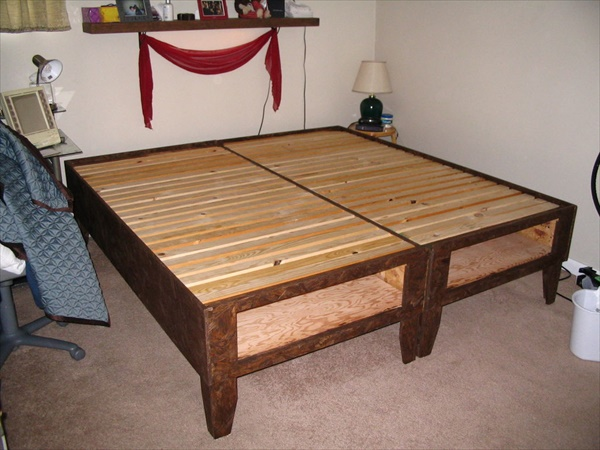 DIY Storage bed designs