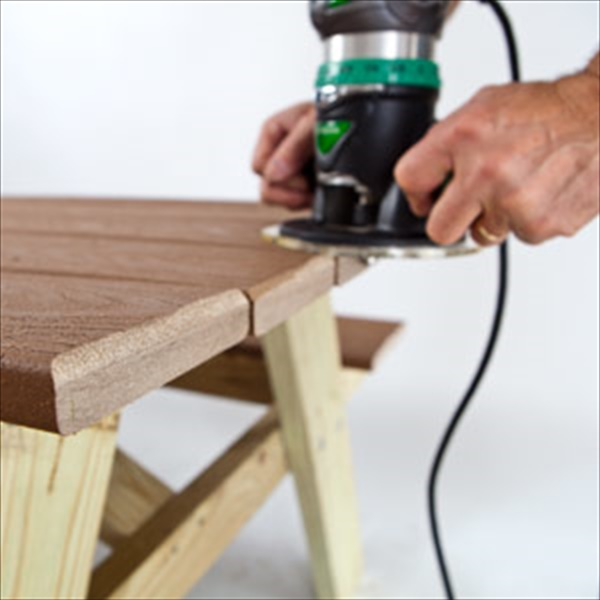 DIY outdoor picnic table