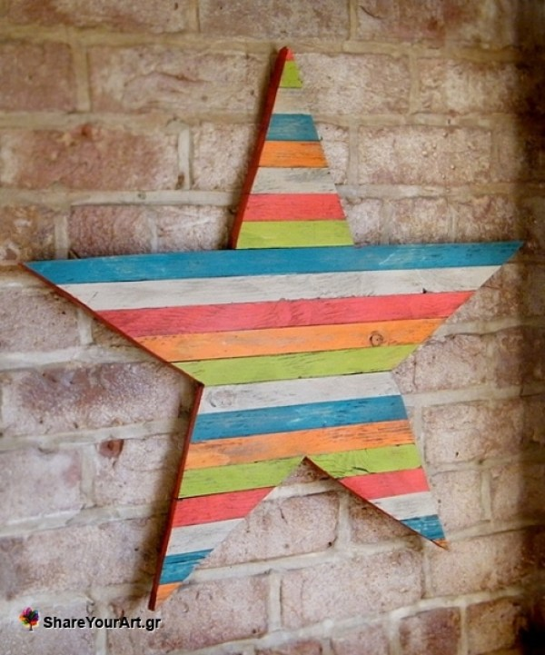 Awesome pallet wall decor