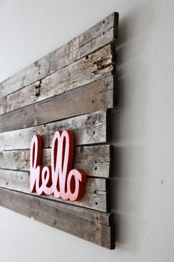 DIY pallet wall art ideas