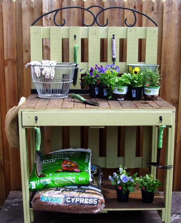 Unique potting bench ideas