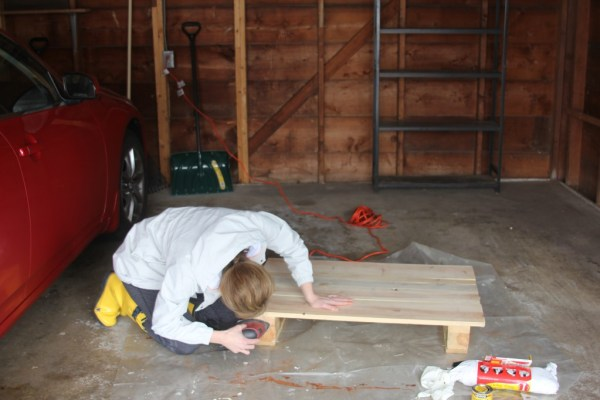 Do it yourself wooden table