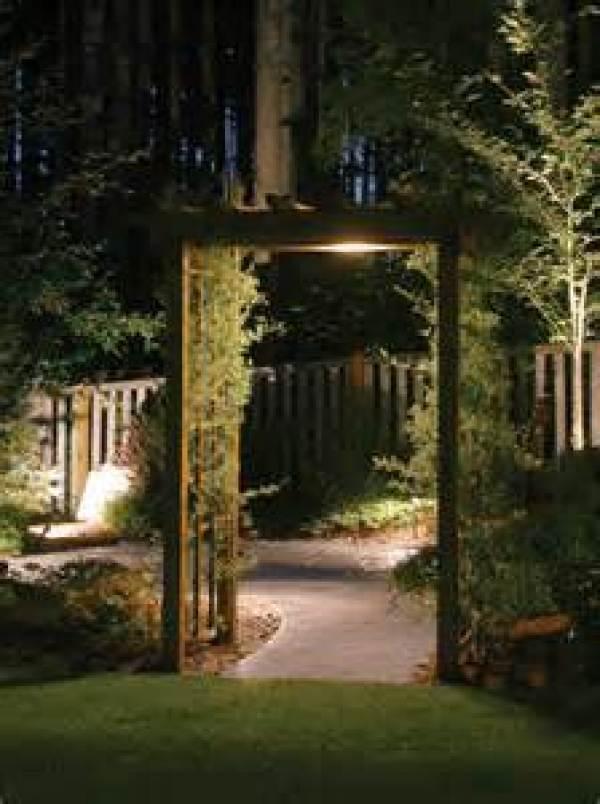 DIY inexpensive outdoor lighting