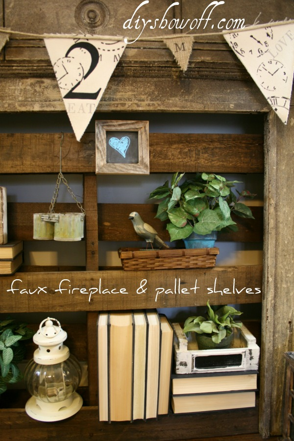 How to make pallet shelves