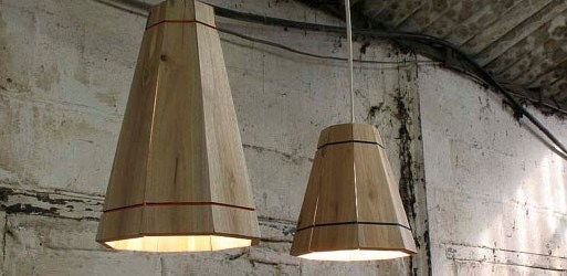 DIY pallet light fixture