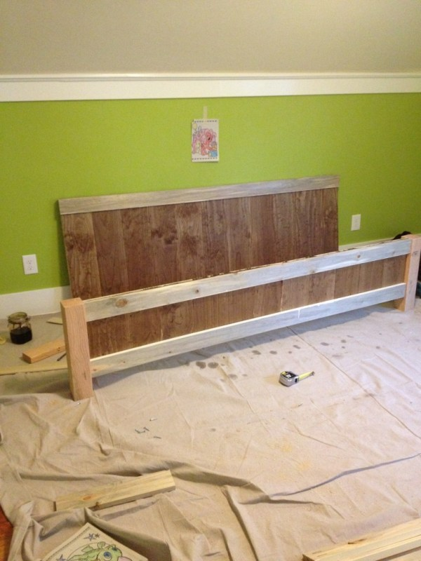 Build your own king size bed