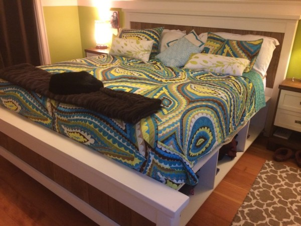 DIY full size storage bed project