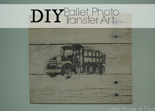 DIY pallet recycling art