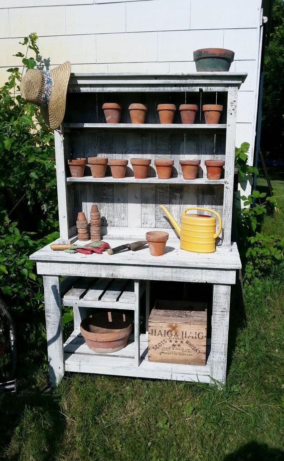 Diy Barn Wood Potting Bench Easy Diy And Crafts