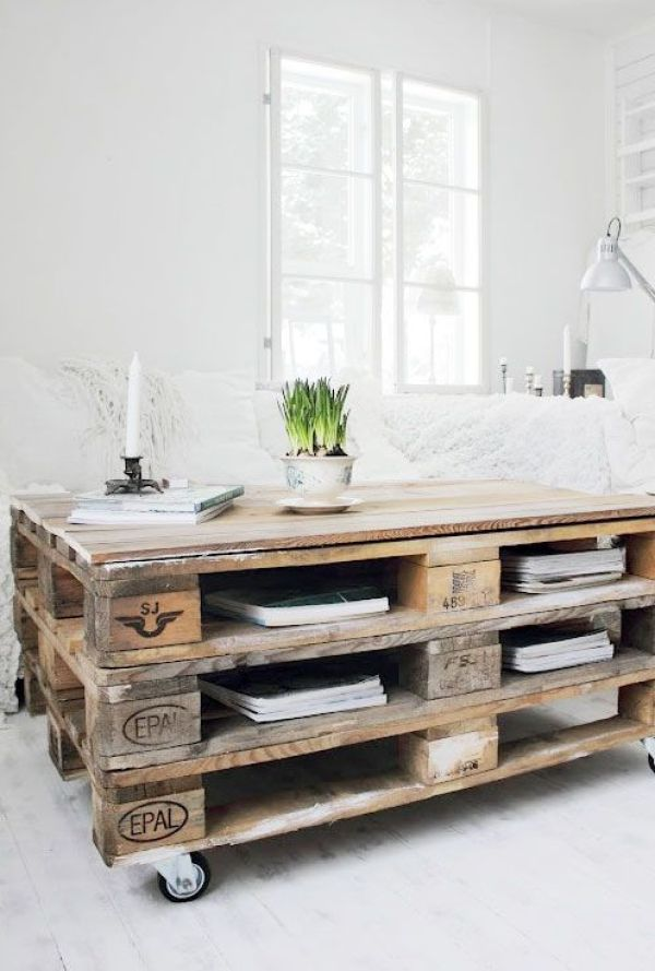 build your own pallet coffee table