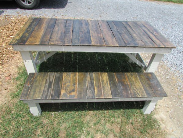 DIY French pallet table