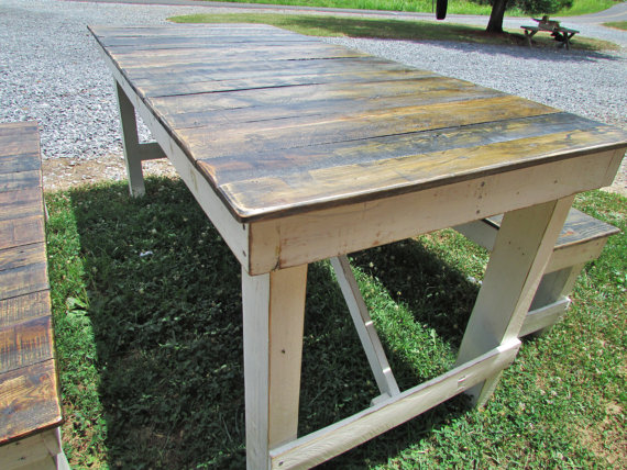 how to assemble a picnic pallet table