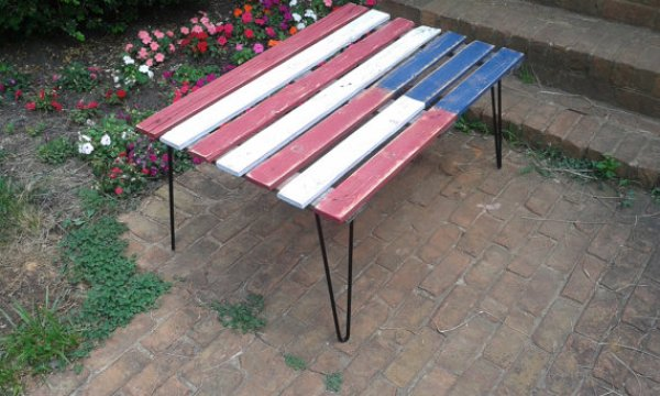 diy flag coffee table