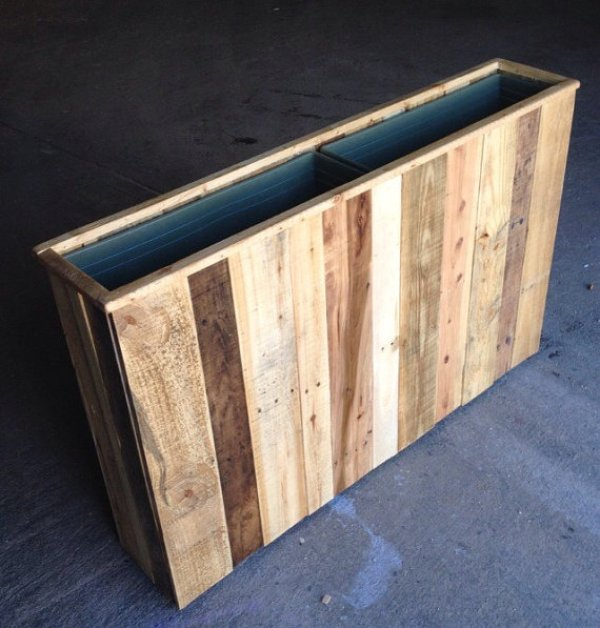 how to build reclaimed wood planters