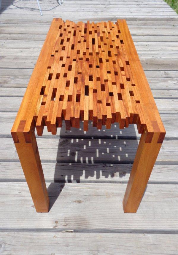 DIY repurposed Antique coffee table