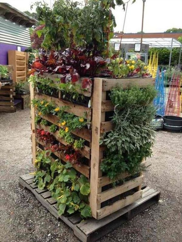 how to make a pallet garden box