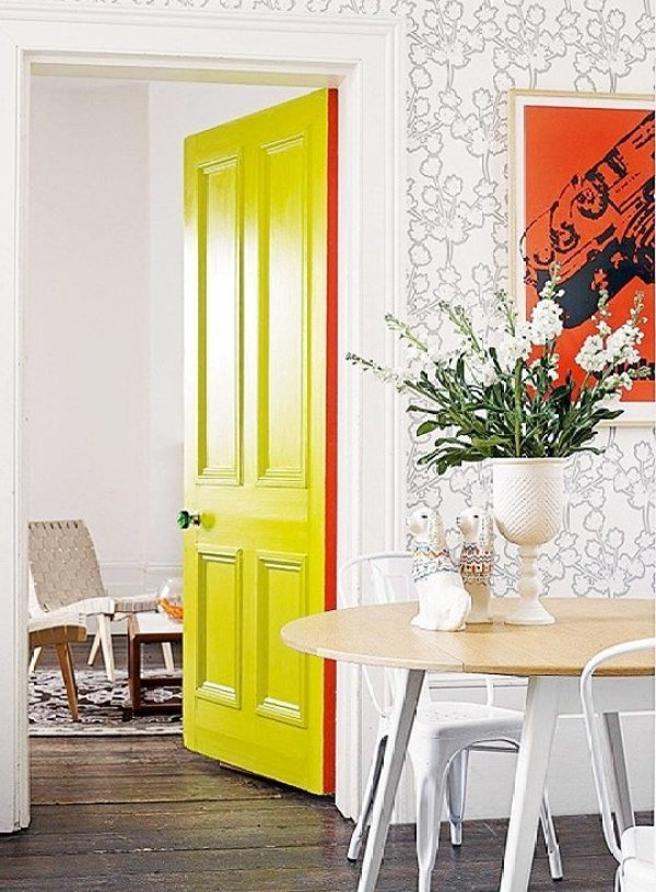 DIY Yellow Door