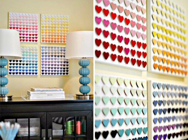 DIY Colourful Hearts