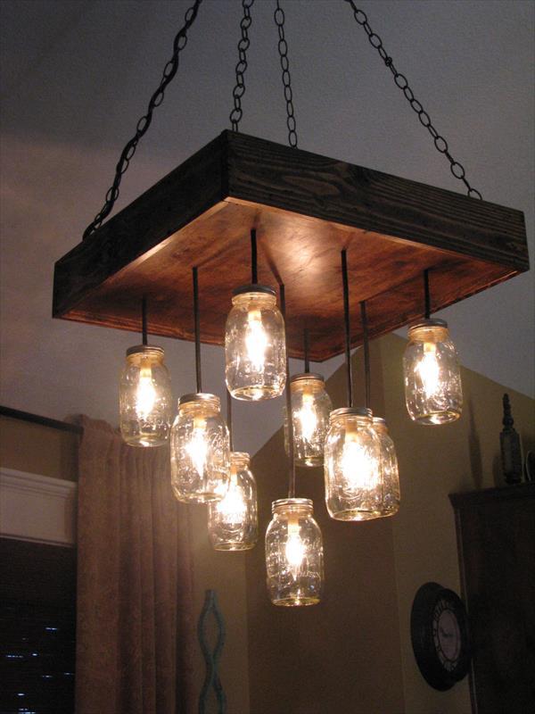 DIY Pallet Lamps