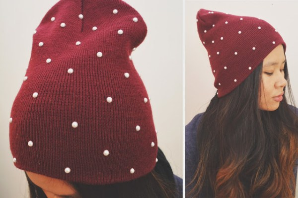 DIY Hat with Pearls