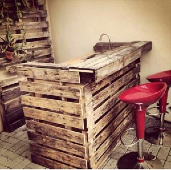 build your own pallet bar