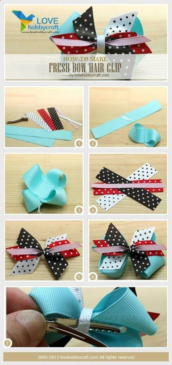 DIY Colorful Little Bow
