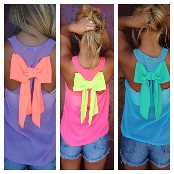 DIY T-Shirt Colorful Bow
