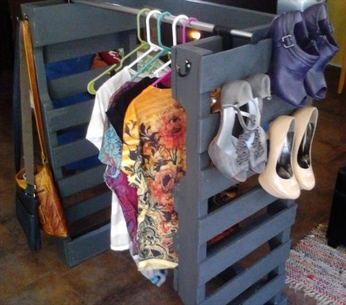 Recycled Pallet Closet Project