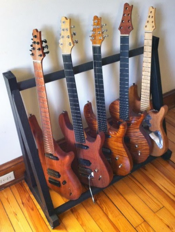 Diy Wooden Multi Guitar Stand Clublifeglobal Com