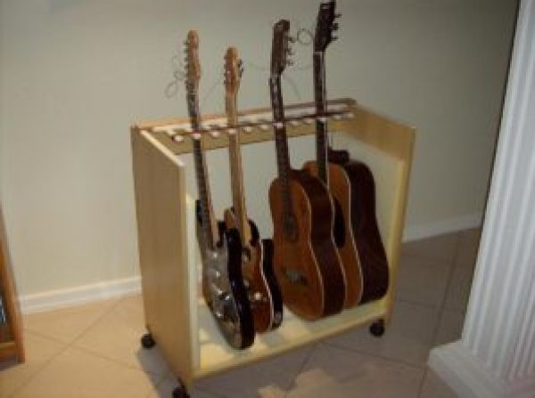 diy homemade guitar stand