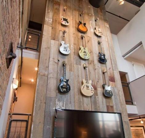 DIY Wooden Guitar Wall