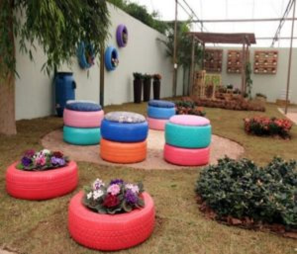 DIY Colourful Tires