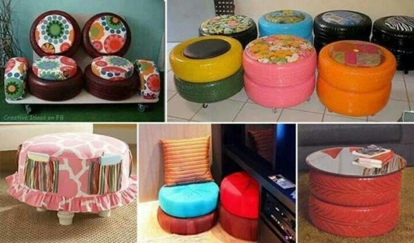 DIY Colourful Old Tires